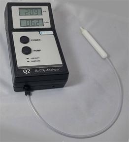Quantek Q2 O2/CO2 Gas Analyser